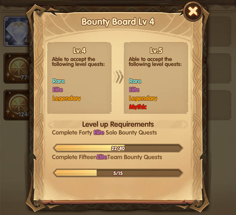 Bounty Board Level