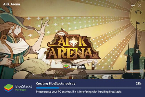 installing bluestacks afk arena version