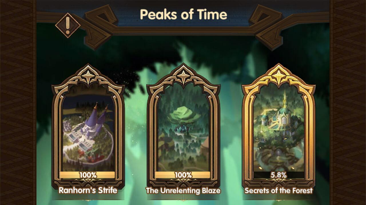 peaks of time afk arena