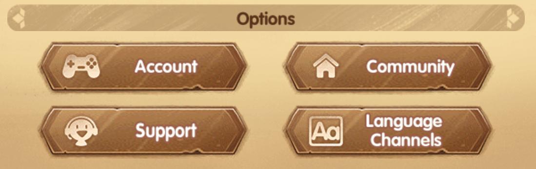 account setting menu