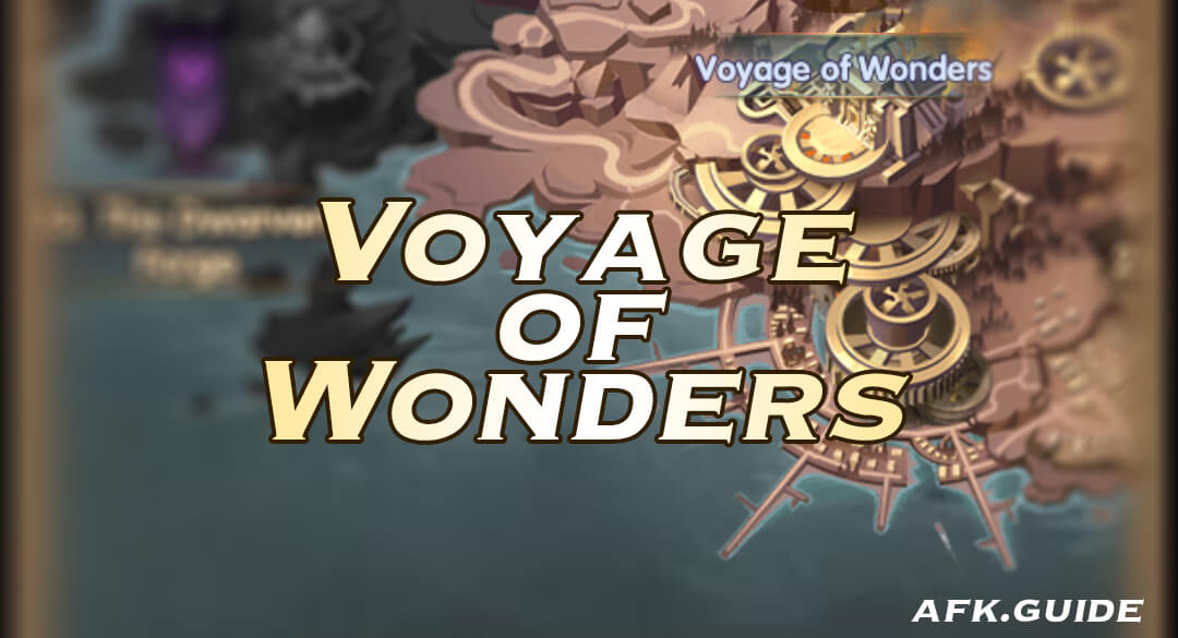 voyage of wonders afk arena