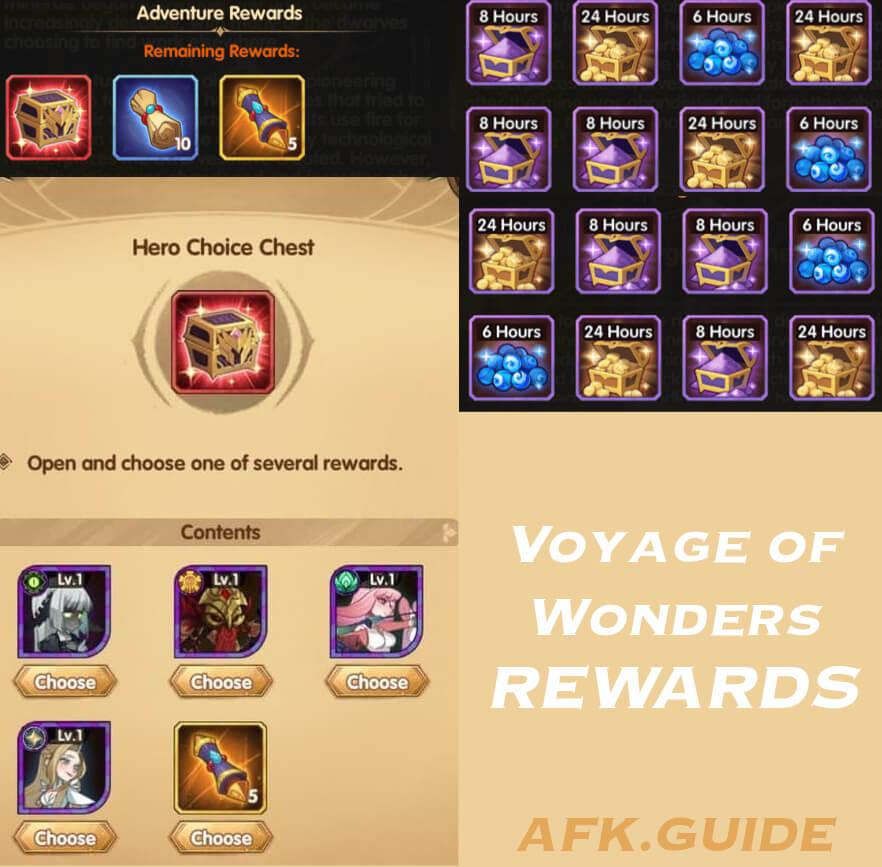 voyage of wonders rewards