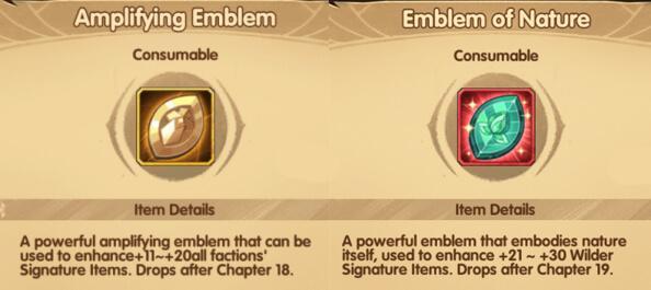 afk arena emblems
