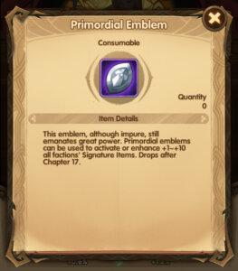 Primordial Emblems in AFK Arena