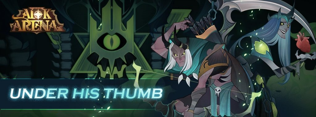 under his thumb