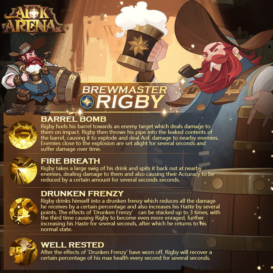 afk arena Rigby - Brewmaster