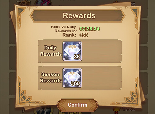 arena rewards in afk arena