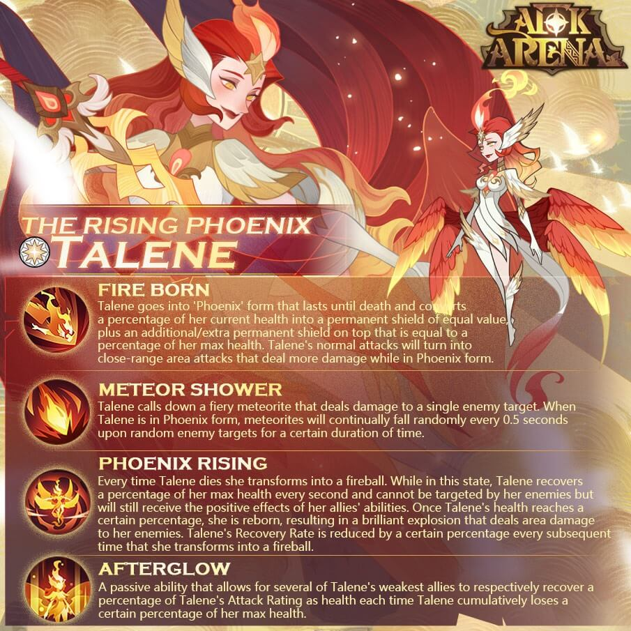 New Celestial hero: Talene - The Rising Phoenix