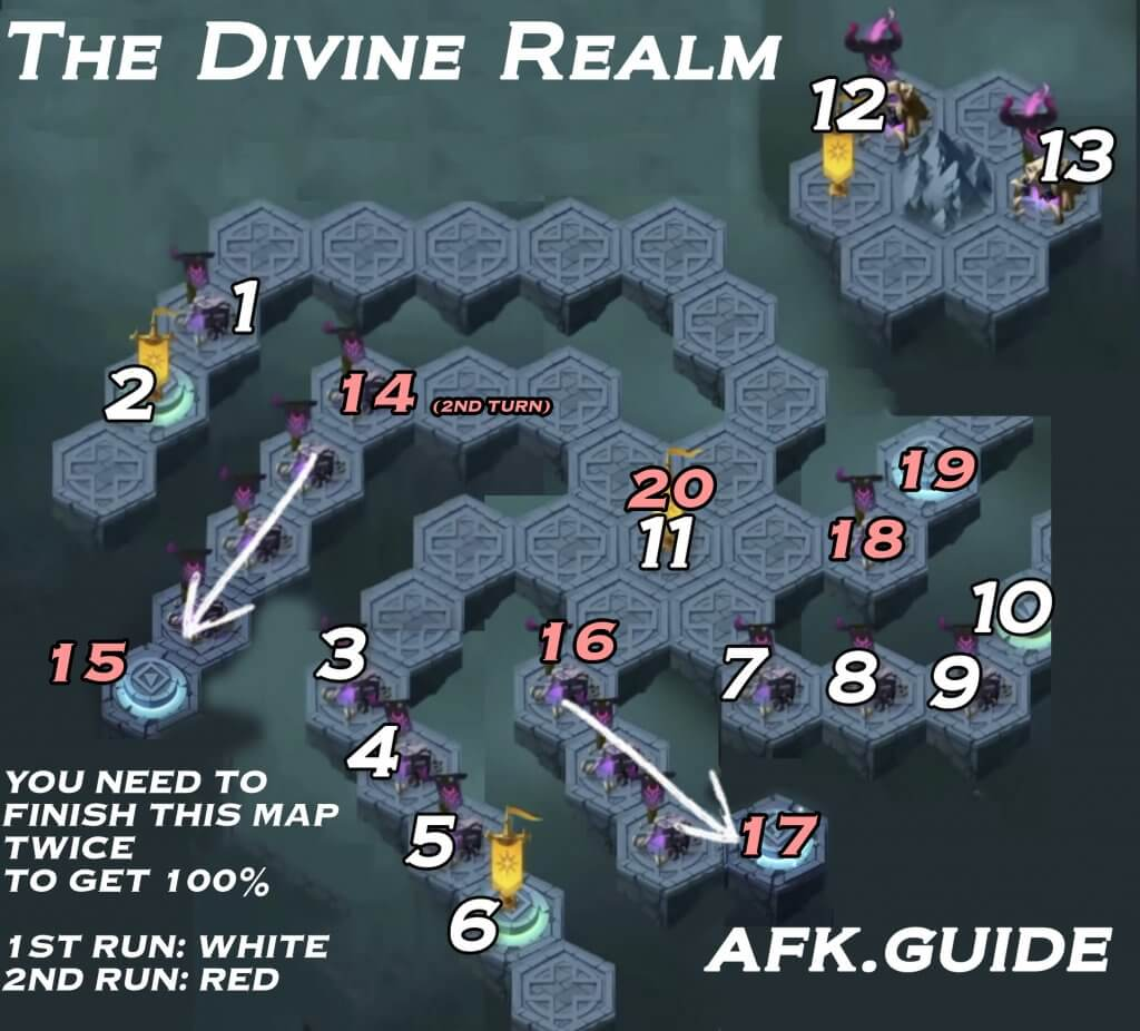 the divine realm afk arena map
