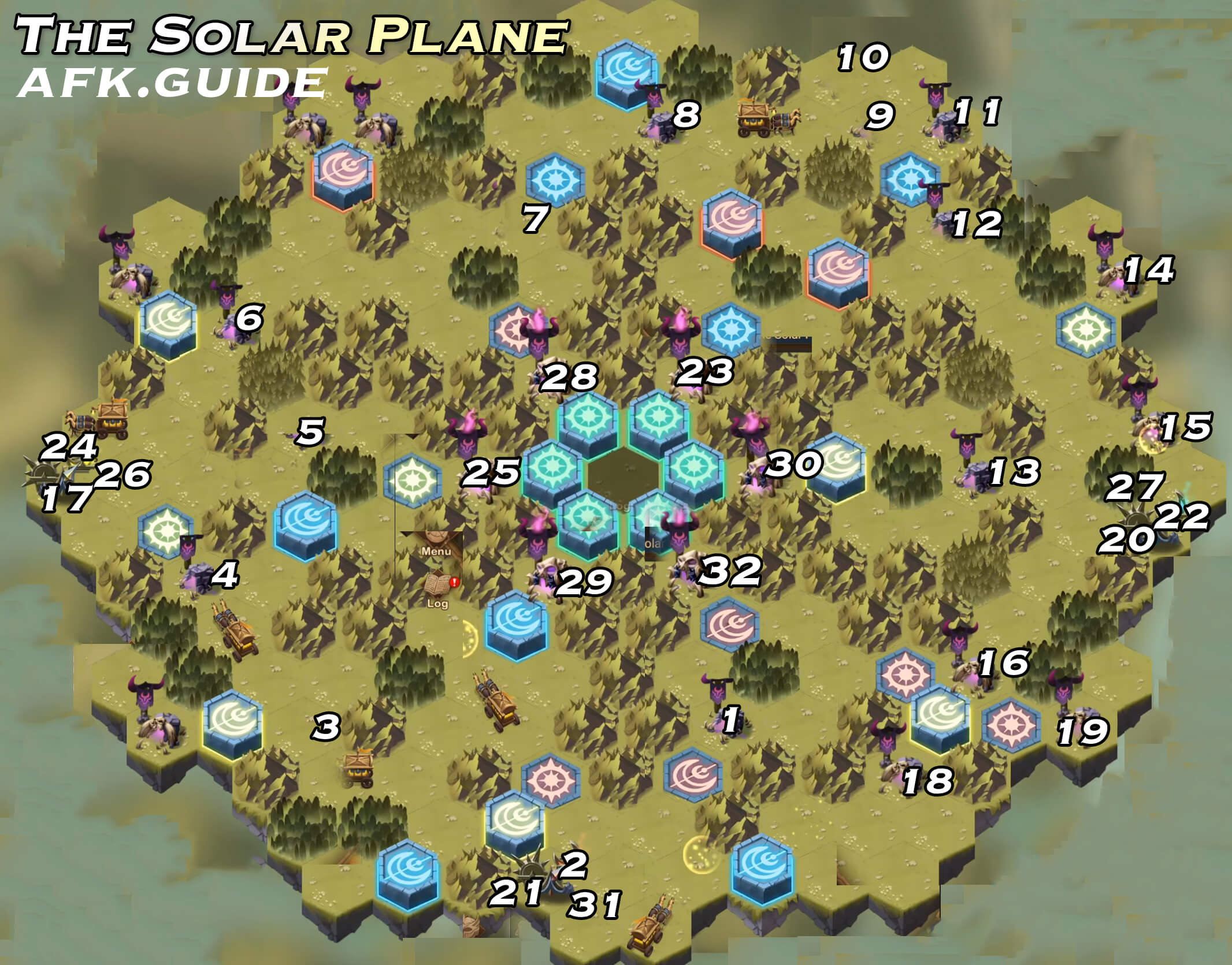 the solar plane map afk arena