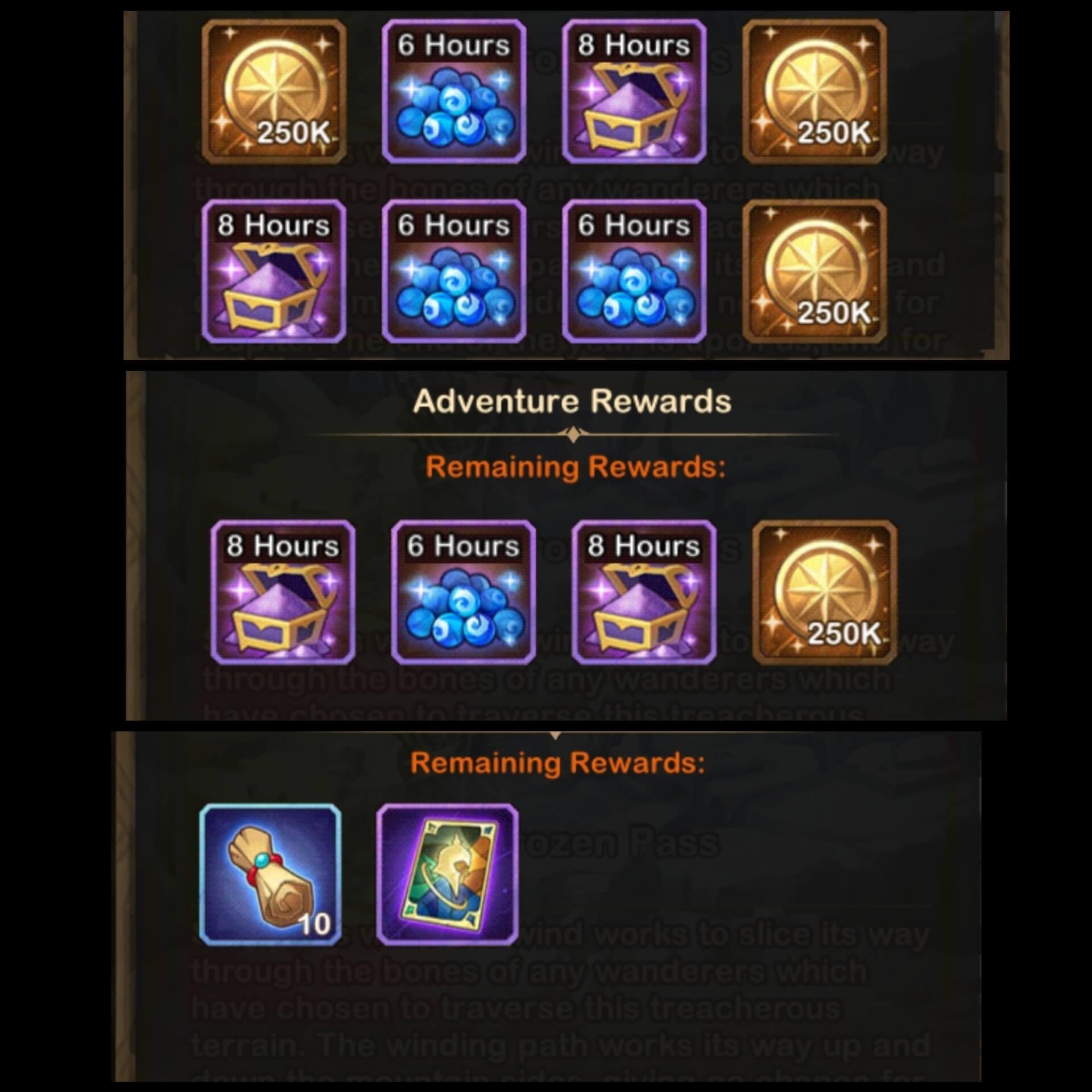 frozen pass rewards