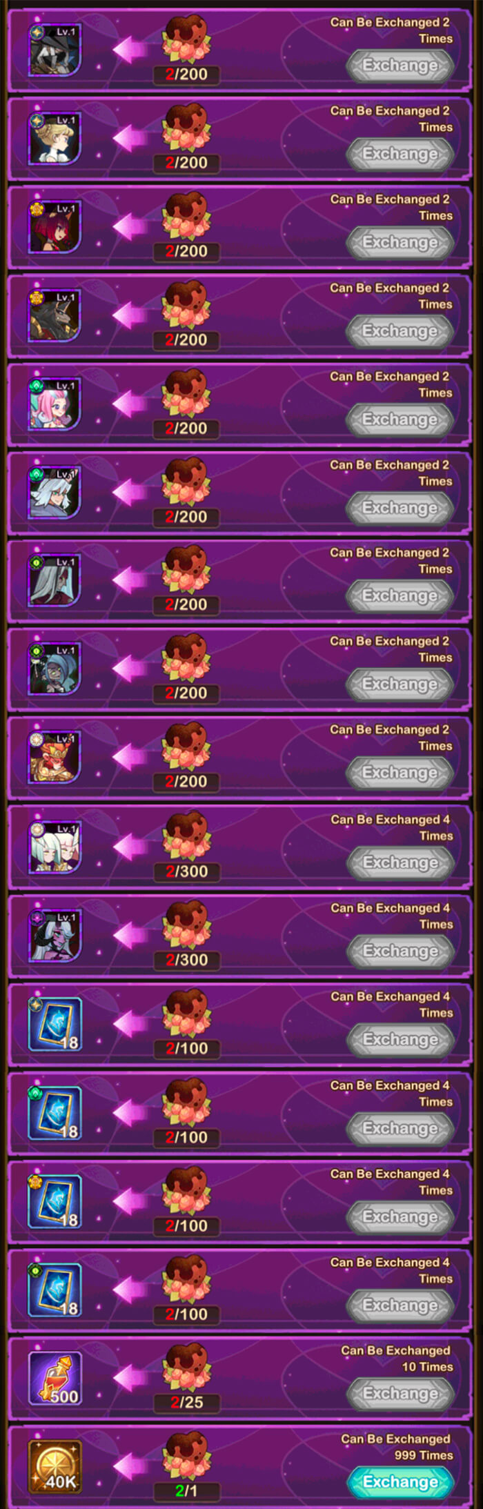 valentines event rewards